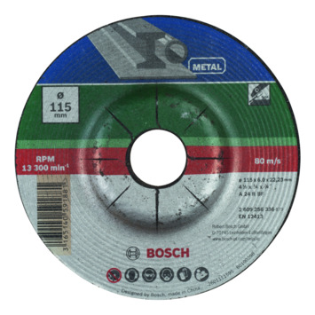 Bosch afbraamschijf gebogen 115x6 mm metaal