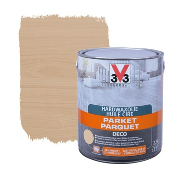 V33 parketolie hardwax deco mat wit 1 L