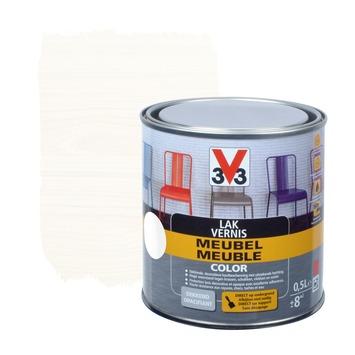 Laque meuble couleur V33 blanc satin 0,5 L