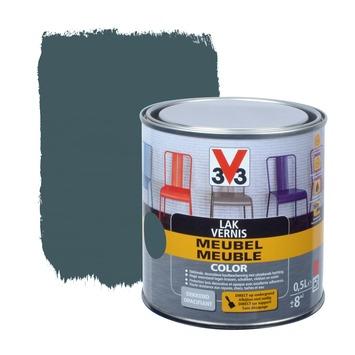 Laque meuble couleur V33 gris fonce mat 0,5 L