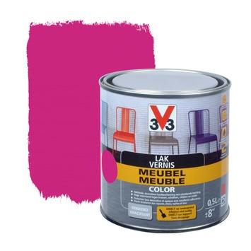 Laque meuble couleur V33 rose mat 0,5 L
