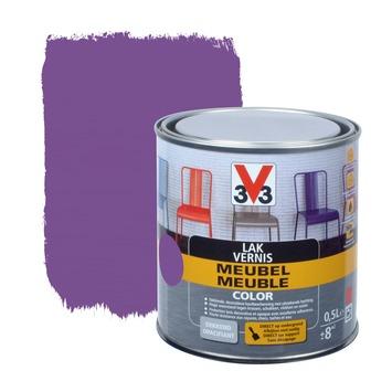 V33 lak meubel color mat violet 0,5 L