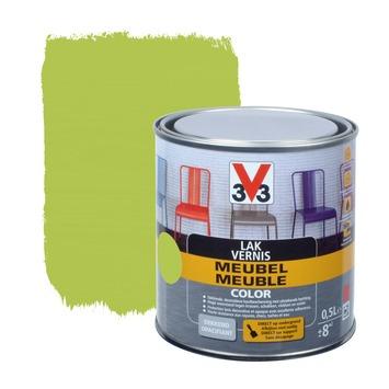 V33 lak meubel color mat appelgroen 0,5 L