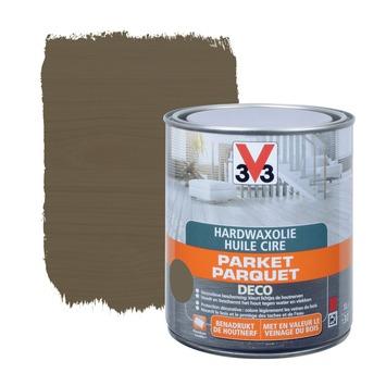 Huile Parquet Hard Wax Deco V33 Gris Fonce Mat 1 L Vernis Huiles