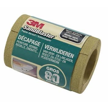 3M SandBlaster schuurpapier op rol P80 groen 2,5 m
