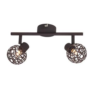 Brilliant duobalk Virgo exclusief lamp 2x G9 max. 33W bruin