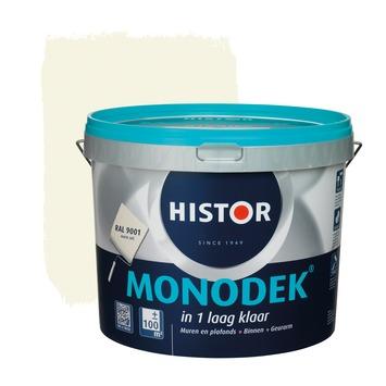 Histor monodek muur- en plafondverf 10 L RAL 9001 crème wit