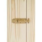 Deurschuif bocht 120 mm geelverzinkt