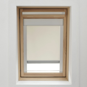 Store enrouleur pour fenêtre de toit avec cassette GAMMA 7001 écru 134x140 cm