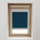 GAMMA dakraamrolgordijn met cassette 7003 donkerblauw 98x78 cm