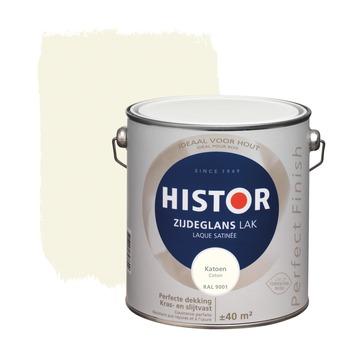 Histor Perfect Finish lak zijdeglans katoen RAL9001 2,5 L