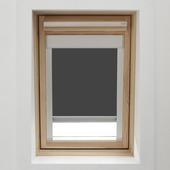 Store enrouleur pour fenêtre de toit avec cassette GAMMA 7004 gris 114x118 cm