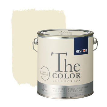 Histor The Color Collection muurverf dough yellow 2,5 liter