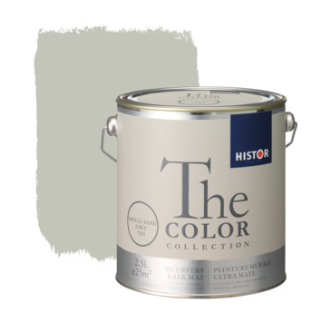 Histor The Color Collection peinture murale ultra mate shells sand grey 2,5 litres