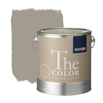 Histor The Color Collection peinture murale ultra mate clay brown 2,5 litres