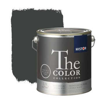Histor The Color Collection peinture murale ultra mate count black 2,5 litres