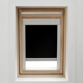 GAMMA dakraamrolgordijn met cassette 7005 zwart 78x140 cm