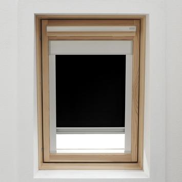 GAMMA dakraamrolgordijn met cassette 7005 zwart 114x118 cm