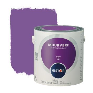 Histor Perfect Finish muurverf purper mat 2,5 liter