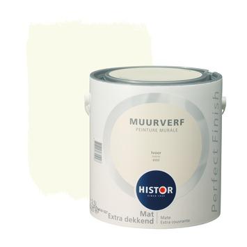 Histor Perfect Finish peinture murale ivoire mat 2,5 litres