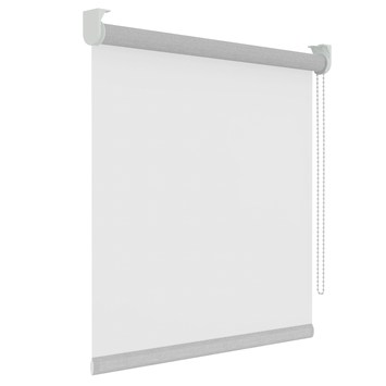 GAMMA rolgordijn effen lichtdoorlatend 1233 wit 120x250 cm