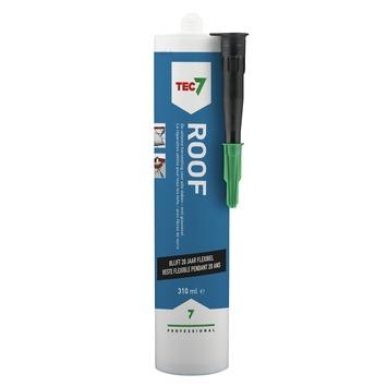 Tec7 Roof waterdichte met glasvezel gevulde rubberpasta 310 ml