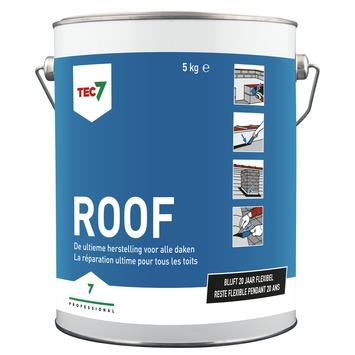 Roof Tec7 Pâte de caoutchouc avec fibres de verres 5 kg