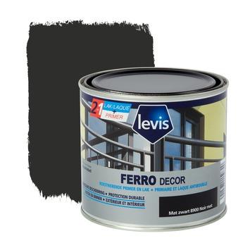Levis Ferro Decor grondverf en afwerkingslak mat zwart 500 ml
