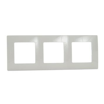 Legrand Niloé afdekplaat 3-voudig verticaal/horizontaal crème