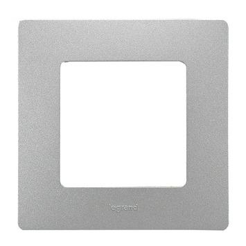 Legrand Niloé afdekplaat enkelvoudig aluminium