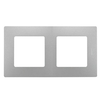 Legrand Niloé afdekplaat 2-voudig verticaal/horizontaal aluminium