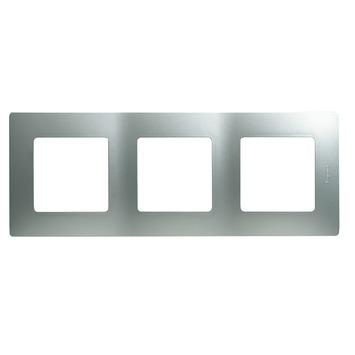 Legrand Niloé afdekplaat 3-voudig verticaal/horizontaal aluminium