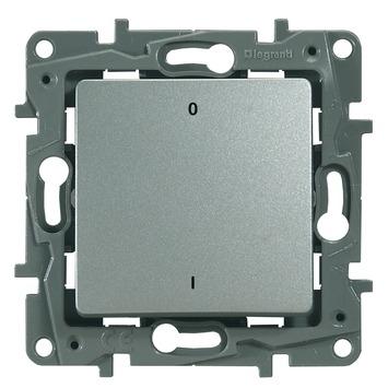 Legrand Niloé schakelaar 2-polig aluminium