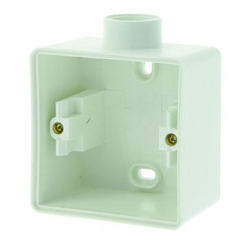 Niko Hydro opbouwdoos enkelvoudig met 1 ingang spuitwaterdicht wit