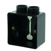 Boîtier simple étanche avec 2 entrées Hydro 55+ Niko montage apparent noir