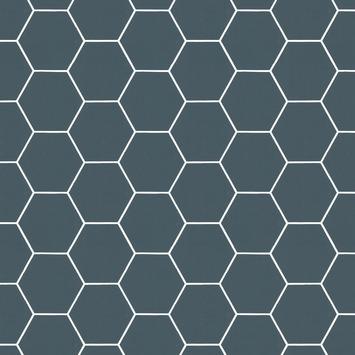 Vliesbehang Honingraad blauw 101671