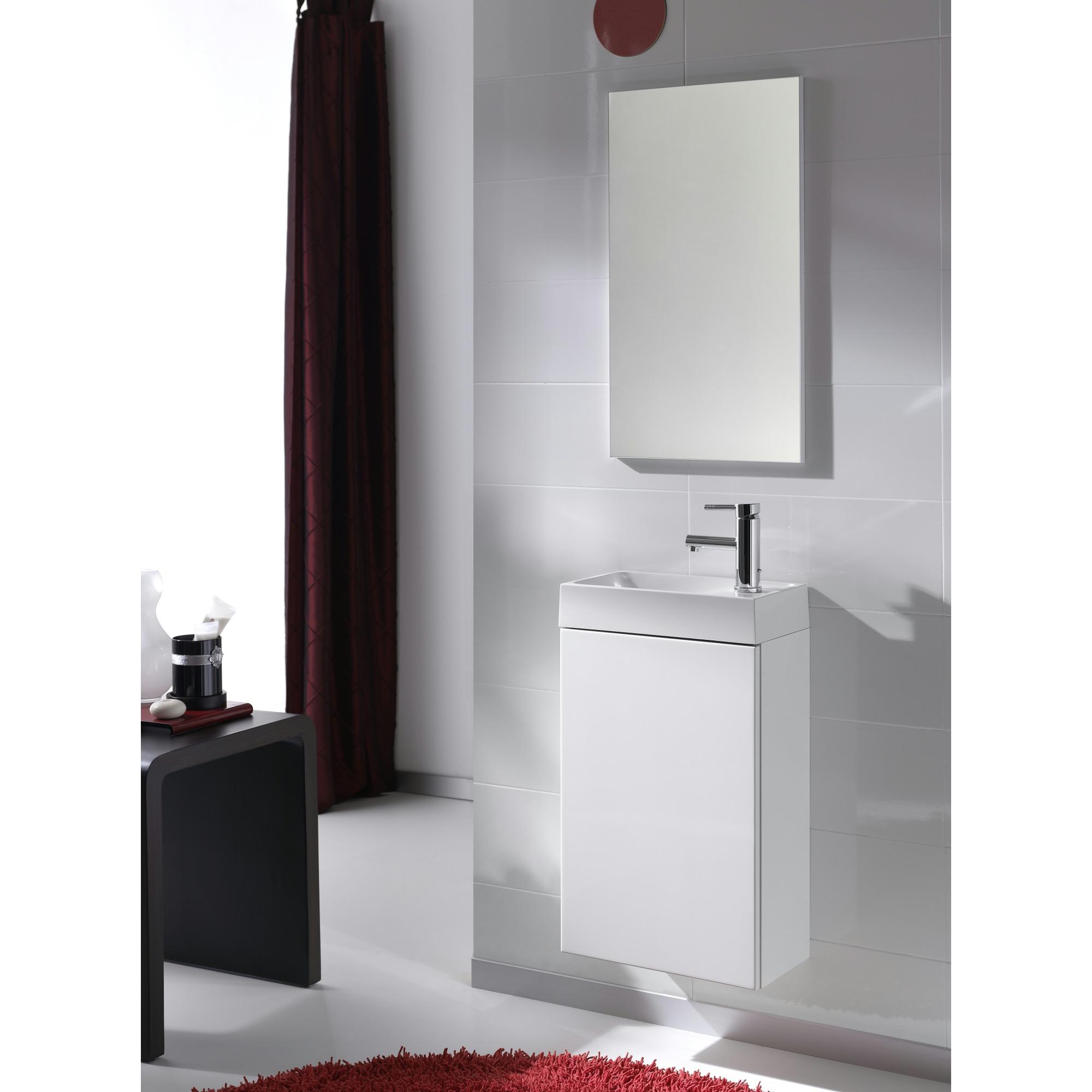meuble lave mains edin 40 cm blanc meubles salle de bain. Black Bedroom Furniture Sets. Home Design Ideas