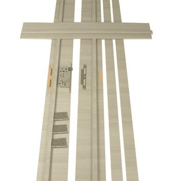 Deurkassement Senza horizontaal eik grijs D02 dikte 15 mm, hoogte 201,5 cm en breedte 16,5 cm