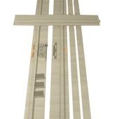Huisserie Senza horizontal D02 15 mm 201,5x16,5 cm chêne gris