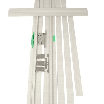 Deurkassement Senza hydrofuge classico eik wit horizontaal D07 dikte 18 mm, hoogte 201,5 cm en breedte 20 cm