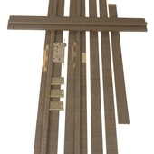 Huisserie Senza horizontal D02 15 mm 201,5x16,5 cm anthracite