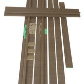 Huisserie hydrofuge Senza horizontal D07 18 mm 201,5x30 cm anthracite