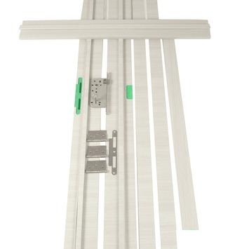 Deurkassement Senza hydrofuge classico eik wit horizontaal D07 dikte 18 mm, hoogte 201,5 cm en breedte 30 cm