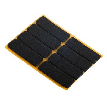 Meubelglijder zelfklevend vilt rechthoekig bruin 8 stuks