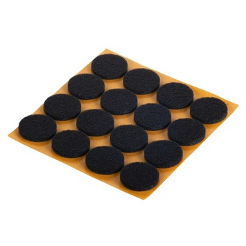 GAMMA meubelglijder zelfklevend rond 22 mm vilt bruin 16 stuks