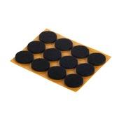 GAMMA meubelglijder zelfklevend vilt rond 22 mm bruin