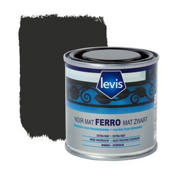Levis Ferro metaalverf mat zwart 125 ml
