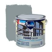 Primer et laque pour métaux Ferro Décor Levis brillant gris nuage 2,5 L