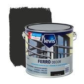 Primer et laque pour métaux Ferro Décor Levis brillant noir 2,5 L