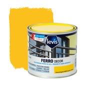 Primer et laque pour métaux Ferro Décor Levis brillant jaune canari 500 ml